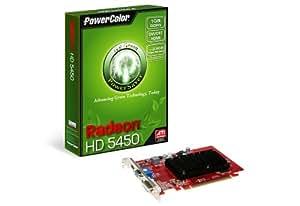 PowerColor AX5450 1GBK3-SHV2 - Tarjeta gráfica (Radeon HD 5450, 2560 x 1600 Pixeles, ATI, 1 GB, DDR3-SDRAM, 64 Bit)