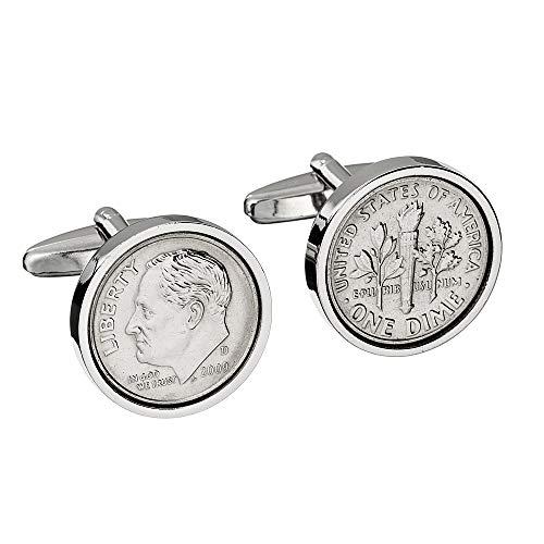 (10th Wedding Anniversary - Genuine Mint US 2009 Coin Cufflinks - Perfect Tin anniversary gift)