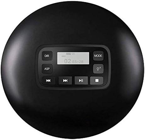 ポータブル Bluetooth CD プレーヤー、個人的なコンパクト ディスク プレーヤー、液晶ディスプレイ電源ケーブルをステレオ ヘッド フォン,Black