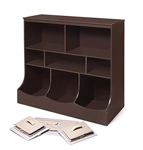 Badger Basket Combo Bin Storage Unit with Three Baskets, Espresso by Badger Basket (Image #3)