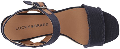 Lucky Brand Women's Lk-Marceline Espadrille Wedge Sandal Indigo sale browse perfect for sale qXoBl18sN