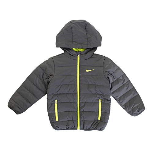 Nike Kids Boy's Quilted Jacket (Little Kids) Dark Gray 5 by Nike (Image #1)