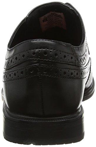 Rockport Essential Details Ii Wingtip - Zapatos Brouges para hombre Negro (negro piel)
