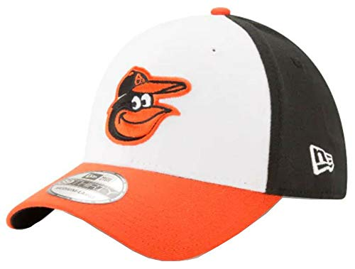 New Era MLB Baltimore Orioles Team Classic Home 39Thirty Stretch Fit Cap, Black/White, Small/Medium