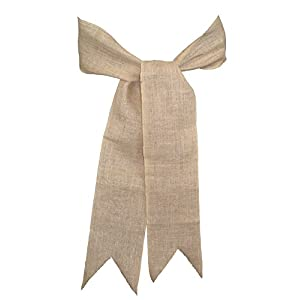 Firefly Craft Rustic Burlap Chair Sashes 18