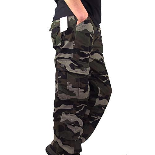 Cargo Sportivi Con Multi Camouflage Lavoro Militari army All'aperto Calzoni Uomo Tattici Jogger 34 Uomini Tasche Da Green Beodole Pantaloni wqR8SXO