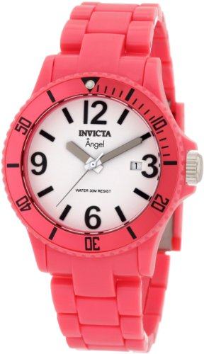 Plastic Pink Watch (Invicta Women's 1209 Angel White Dial Pink Plastic Watch)