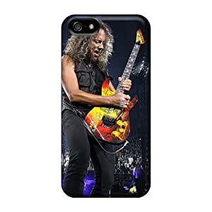 Shock-Absorbing Hard Phone Cases For Iphone 5/5s (IJN6081UUlx) Unique Design Trendy Metallica Skin