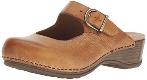 Dansko Women's Martina Mary Jane Flat, Honey Distressed, 40 EU/9.5-10 M US by Dansko (Image #1)