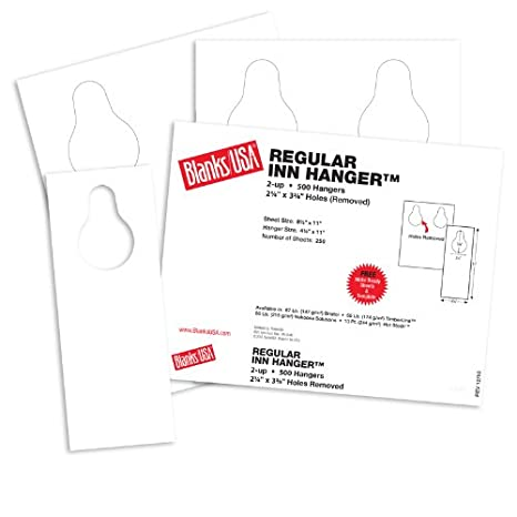 amazon com blanks usa white regular inn door hangers 8 1 2 x 11