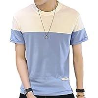 Hisitosa Tシャツ メンズ 半袖 カットソー 無地 大きいサイズ ゆったり ファッション かっこいい カジュアル シンプル スポーツ おしゃれ 夏 綿 薄手