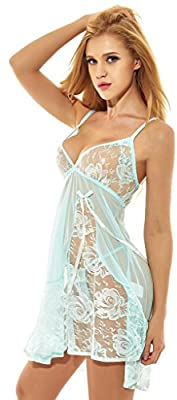 Womens Sexy Babydoll Lingerie Set