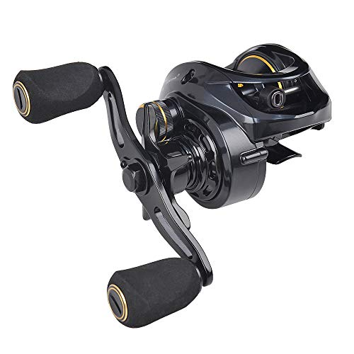 Fiblink Baitcasting Fishing Reel 7.3:1 High Speed Right/Left Hand Casting Reel Ultra Smooth Baitcaster for Freshwater and Saltwater with Reel Bag (Right Handed)