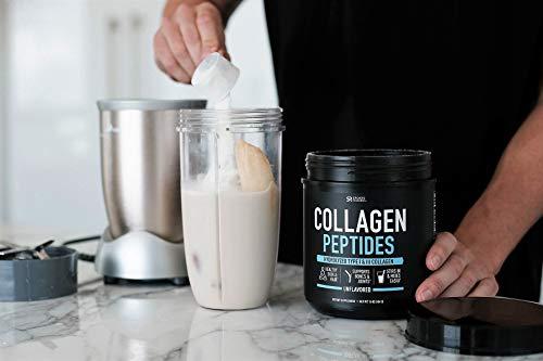 Collagen Peptides Powder (16oz) | Grass-Fed, Certified Paleo Friendly, Non-GMO and Gluten Free - Unflavored
