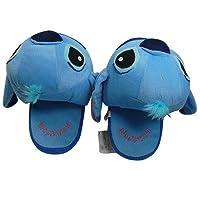 L Blue Lilo Stitch Plush Slipper Soft Stuffed Toy for Disney Doll Cartoon Collect