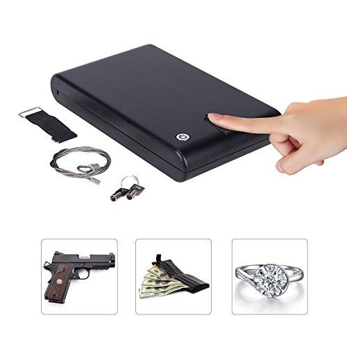 CO-Z Portable Hand Gun Safe, Lockbox Jewelry Lock Box, Pisto