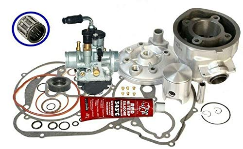 Unbranded 70 Racing Zylinder Dichtung VERGASER KIT f/ür Aprilia RS 50 EXTREMA AM6 Silber Zylinderkit