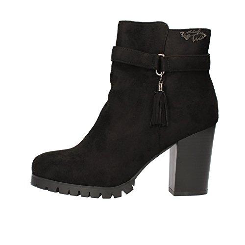 BRACCIALINI Ankle Boots Woman Black / Blue Suede (7 US / 37 EU, Black)