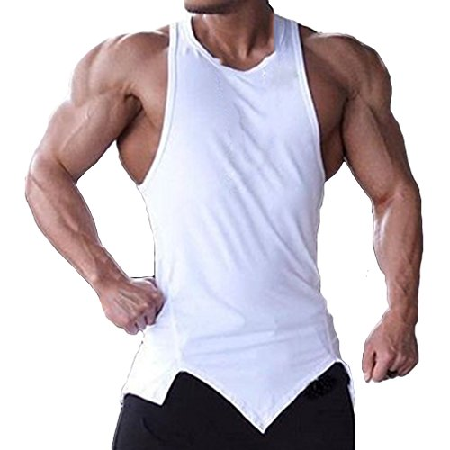 Palestre Canotta Fitness Solid Weimeite Bianca Summer Bodybuilding Canotte Senza Mens Abbigliamento Maniche qxwzZYv