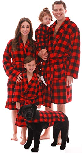 #followme Matching Velour Buffalo Plaid Lounge Robes Family