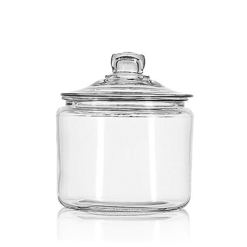 Crystal Canister - Anchor Hocking 3-Quart Heritage Hill Jar with Glass Lid