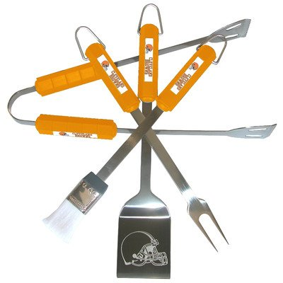 NFL 4 Piece BBQ Grill Tool Set NFL Team: Cleveland Browns