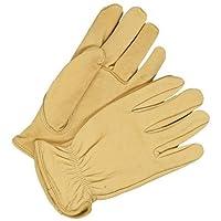 Bob Dale 20-1-366-M Premium Grain Leather Deerskin Driver Glove with Keystone Thumb, Medium, Tan