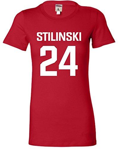 Medium Red Juniors Stilinski LaCrosse #24 T-Shirt