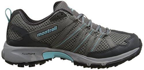 Montrail Dames Mountain Masochist Iii Trail-hardloopschoen Lichtgrijs / Transparant / Blauw