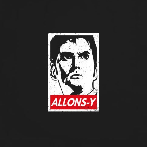 Doctor Allons Y - Stofftasche / Beutel Oliv LFgbuj
