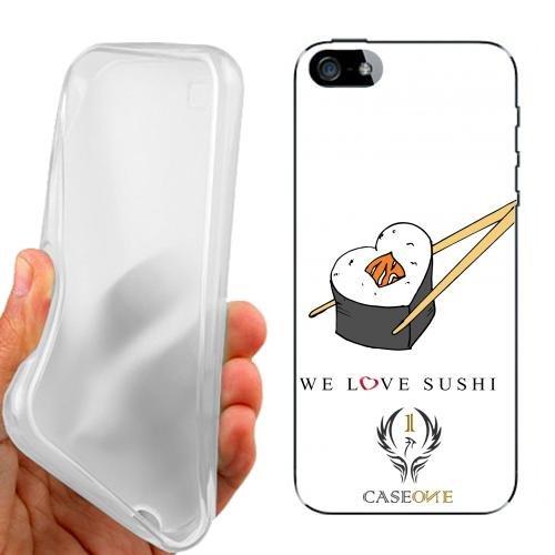 CUSTODIA COVER CASE CASEONE SUSHI AMORE PER IPHONE 5 5G 5S