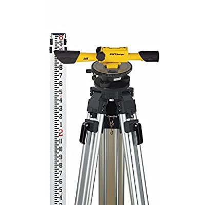 CST/berger 54-190K Speed Line 20X Transit Level Package with Horizontal Circle, Tripod, Rod, and Carrying Case by CST/Berger