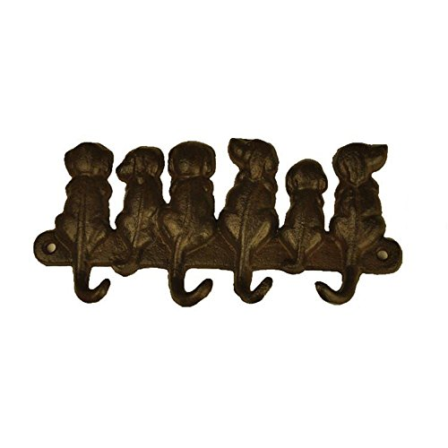 TB001 Bestplus 6 Dogs Cast Iron Wall Hooks/ Hats Bag Key Coat Vintage Hooks, Home Decor