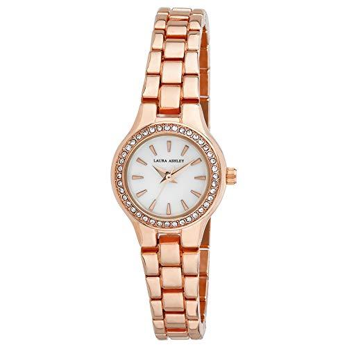 Laura Ashley LA31035RG Ladies Mini Link Crystal Bezel Bracelet Watch ()