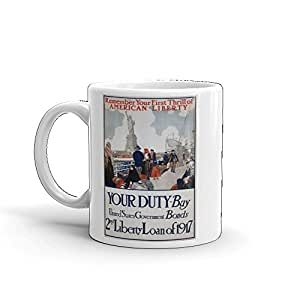 Vintage poster - Statue of Liberty 1178 - Glossy White Ceramic Mug (11 oz.)