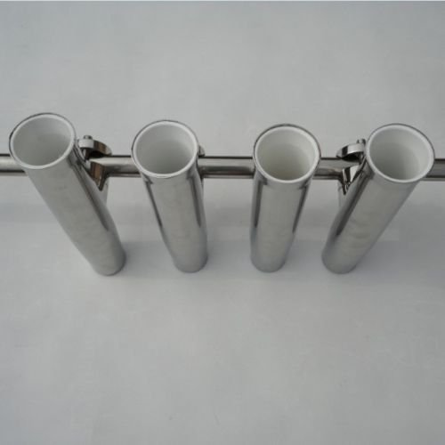 8PCS Stainless Tournament Style Clamp on Fishing Rod Holder for Rails 7/8'' to 1'' by new