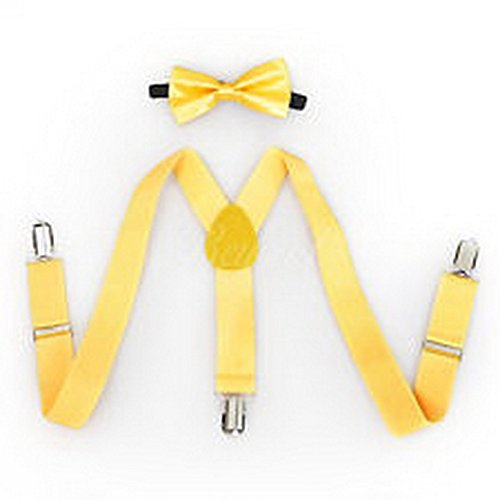 Scott Allah design - Accessories Yellow Suspender and Bow Tie Set for Baby Toddler Kids Girls Boys (Tuxedo Playboy Bunny Costume)