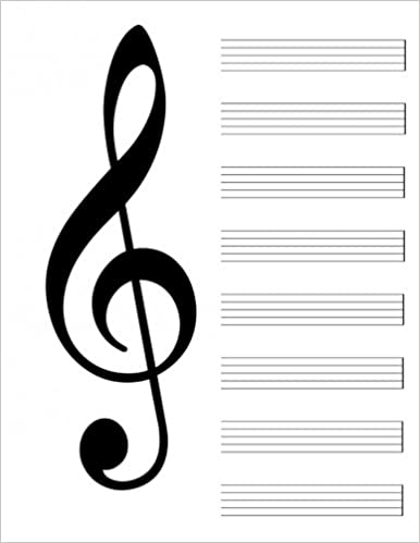 Blank Music Sheet Notebook 8 5 X 11 120 Pages Music