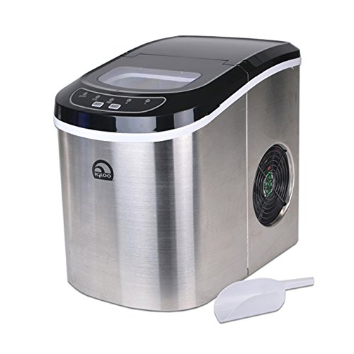 Igloo Stainless Steel Portable Countertop Ice Maker w/ Ice Scoop - ICE105B (Certified Refurbished) -  ICE105B-FB-RC