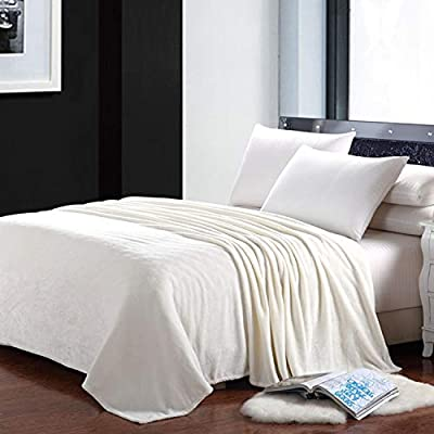 Groovy Litken Fleece Blanket Twin Size Travel All Season Soft Warm Velvet Flannel Blanket For Office Company Home Couch Bed Sofa Ivory 60 X 80 Creativecarmelina Interior Chair Design Creativecarmelinacom