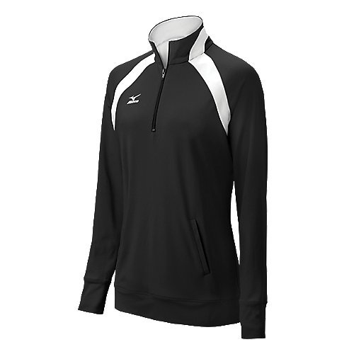 Mizuno Women's G3 Nine Collection 1/2 Zip Pullover, X-Small, (Mizuno White Pullover)