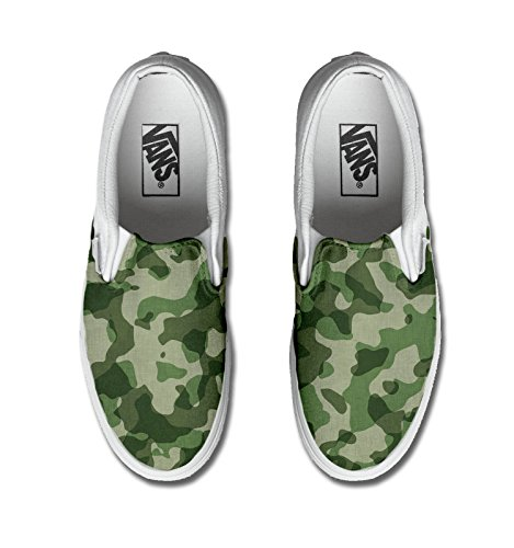 Vans Authentic Slip on, printed custom (Artesanía del producto) Military