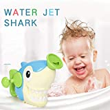 Baby Bath Toy, Bath Shark Toys Baby Water Can Swimming Bathroom Bath Shower Tool Water Hand Spray Toys Kid's Water Jet Tub Playing Novelty Toy Gifts
