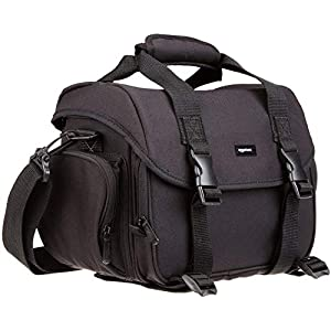 AmazonBasics Large DSLR Camera Gadget Bag – 11.5 x 6 x 8 Inches, Black And Grey