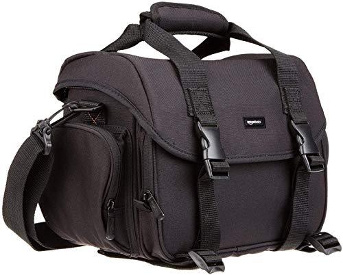 AmazonBasics Large DSLR Camera Gadget Bag - 11.5 x 6 x 8 Inches, Black And Grey