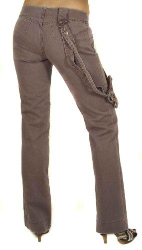 Diesel Damen Jeans Hose + Tasche Sloop Braun #14