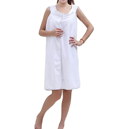 bfa47a680e Yasheep Wearable Bath Towel Wrap with Straps for Women - Highly Absorbent  Terry Soft Sarong Towel