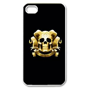 Personal Phone Case Skull For iPhone 4,4S LJS3405