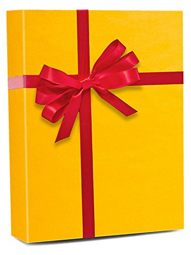 30'' X 15' Yellow Ocher Shadow Stripe Gift Wrap by Paper Mart