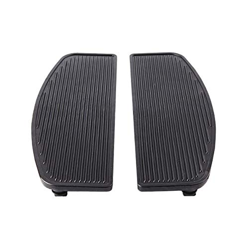 INNOGLOW Front Rubber Rider Insert Floorboard Footboards 2Pcs Foot Peg Boards For Harley Touring Electra Road King Glide